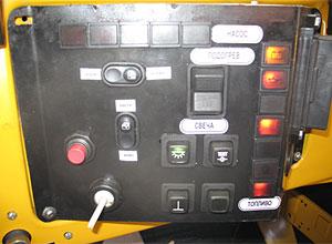 Панель запуска и управления автономным двигателем